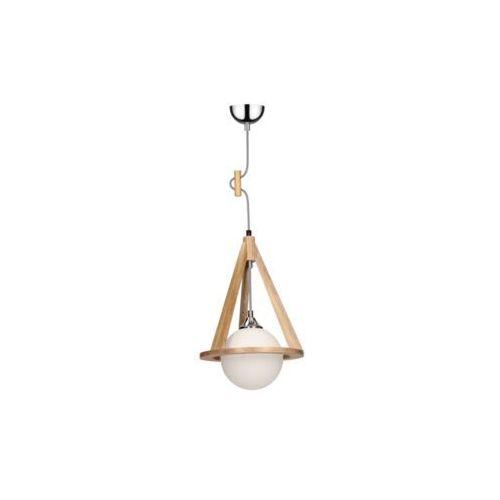 SPOT-LIGHT KONAN Lampa wisząca Dąb/Chrom/Czarno-biały 1XE27-60W 1051470, kolor dąb/chrom/czarno-biały/biały