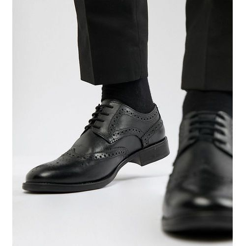 wide fit brogues in black leather - black, Frank wright