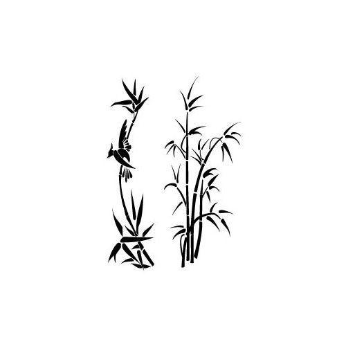 Naklejka dekoracyjna flora 131 - bambusy marki Szabloneria