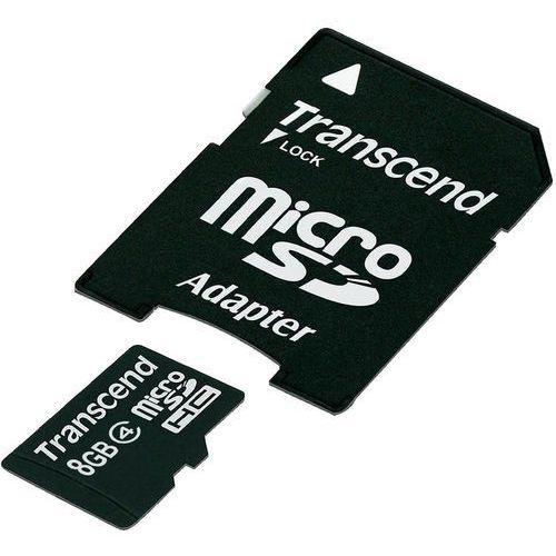 Karta pamięci microSDHC Transcend TS8GUSDHC4, 8 GB, Class 4, 4 MB/s / 4 MB/s