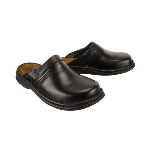 JOSEF SEIBEL 10663 MAX 37 600 schwarz, klapki męskie - Czarny, kolor czarny