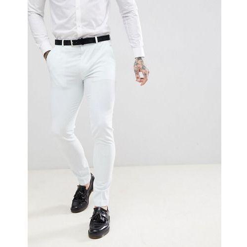 Asos design wedding super skinny suit trouser in pastel blue - blue