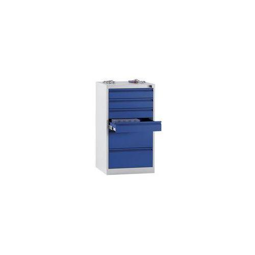 Szafka szufladowa, stal,wys. x szer. x głęb. 900 x 500 x 500 mm, 6 szuflad marki Quipo
