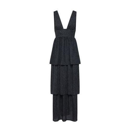 Missguided Letnia sukienka czarny / biały, kolor biały