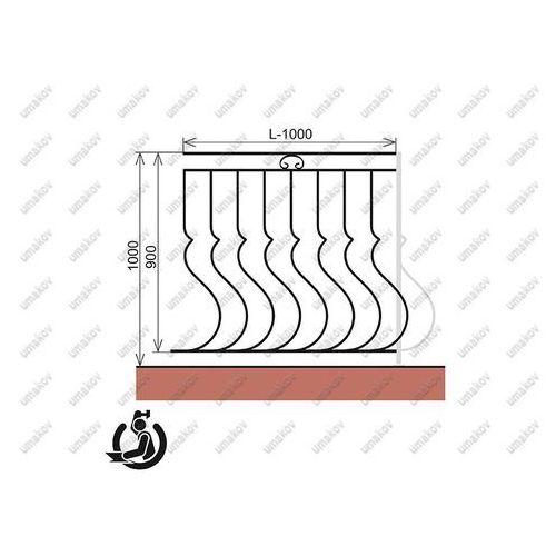 Kované zábradlie - vzor a02/b20/c51/d70 - 100cm 10