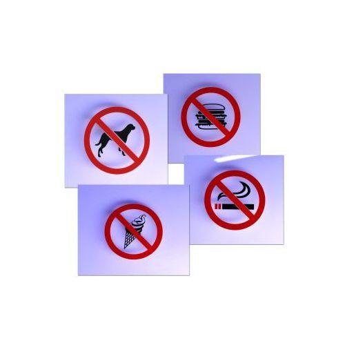 Zakaz - Naklejki na szybę 8,5 x 8,5 cm