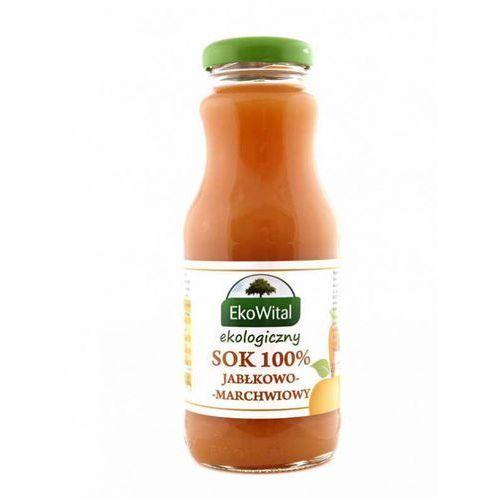 Sok jabłkowo-marchwiowy tłoczony 100 % BIO 250 ml Bez Cukru, kup u jednego z partnerów