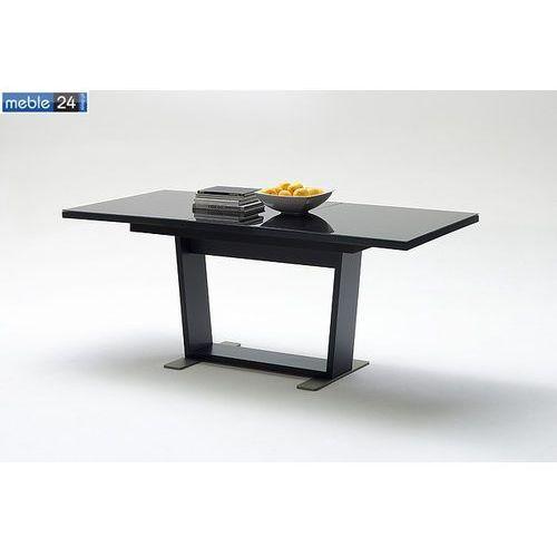 Meble24 Stół rozkładany czarny alba 160-210/90cm