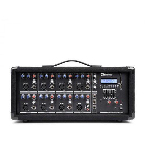 pdm-c805a 8-kanałowy mikser ze wzmacniaczem, port usb i sd marki Power dynamics