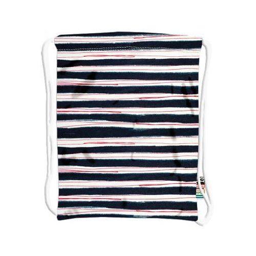 Plecak na sznurkach Stright Stripe St.Right - 5903235613456, kolor biały