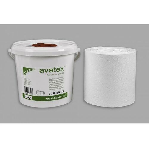 Ściereczki nasączone alkoholem do mycia powierzchni static control - wiaderko 250 sztuk marki Avatex