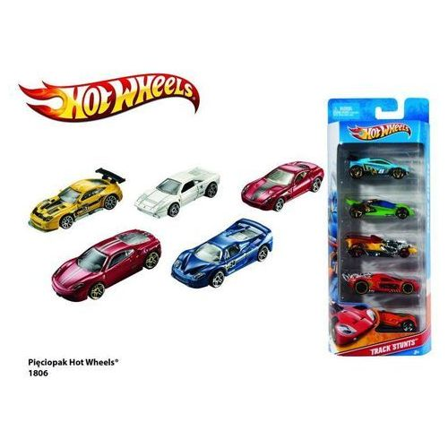 Hot wheels pięciopak marki Mattel