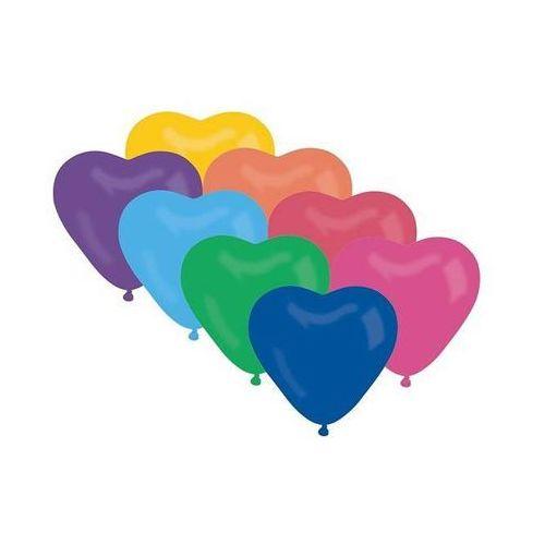 Go Baloniki mix kolorowe serca - 29 cm - 50 szt.