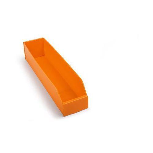 Skrzynki regałowe z tworzywa, składane, dł. x szer. x wys. 450x100x100 mm, pomar marki K bins limited