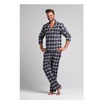 Męska piżama flanelowa sam-py-043 w kratkę, Rossli