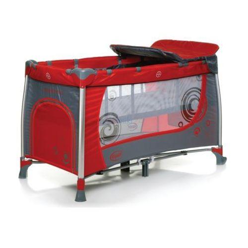 łóżeczko turystyczne dwupoziomowe moderno czerwone marki 4baby