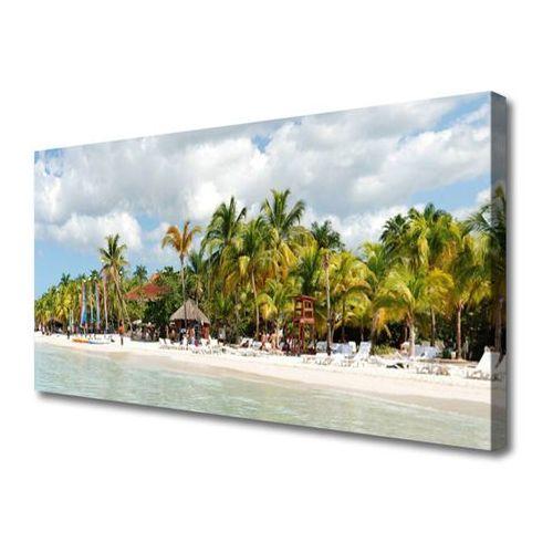 Tulup.pl Obraz na płótnie plaża palma drzewa krajobraz