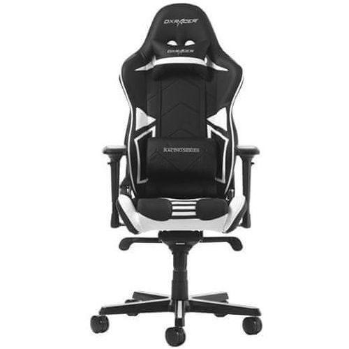 DXRacer fotel obrotowy Racing Pro RV131/NW, czarny/biały (RV131/NW)