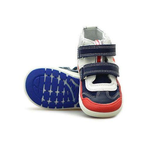 Półbuty profilaktyczne dziecięce Bartek 81859 Niebieskie/Czerwone, kolor niebieski