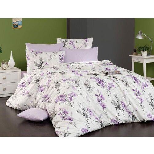 Bedtex pościel bawełniana nesta śmietankowy, 140 x 200 cm, 70 x 90 cm, fioletowy, 140 x 200 cm, 70 x 90 cm