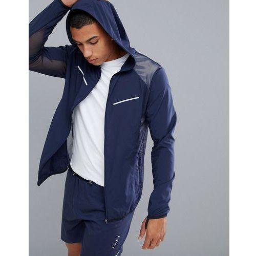 ultra lightweight running jacket with breathable mesh in navy - navy marki Asos 4505