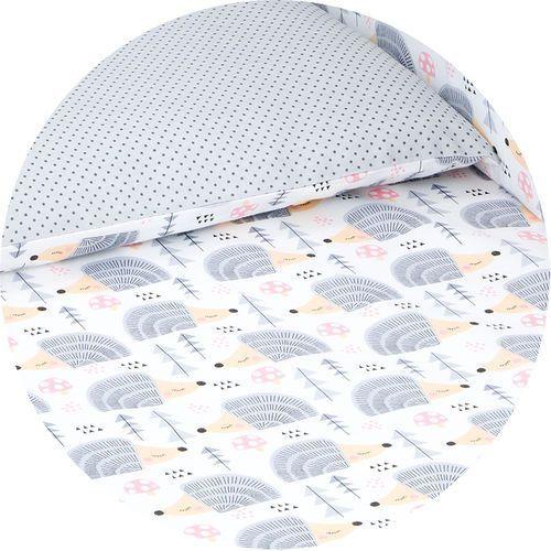 Mamo-tato dwustronna pościel 2-el jeżyki szare / kropki szare do łóżeczka 60x120cm