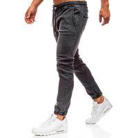 Spodnie jeansowe baggy męskie antracytowe Denley 2040, jeans