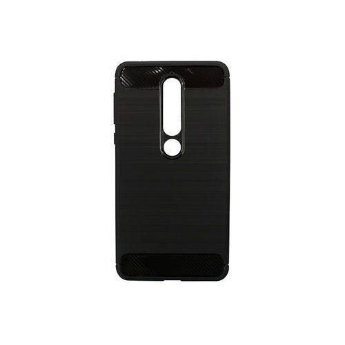 Nokia 6.1 (2018) - etui na telefon Forcell Carbon - czarny, ETNK659CRBNBLK000