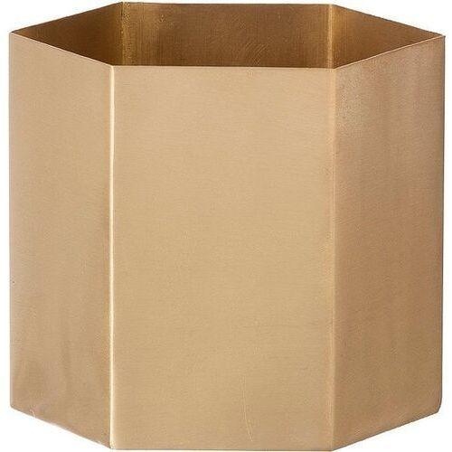 Osłonka na doniczkę hexagon 9 cm mosiądz, 4104