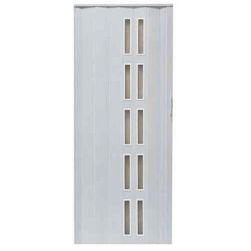 Drzwi Harmonijkowe 005S 49 Biały Dąb Mat 80 cm, GK-0121