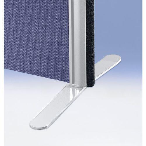 Noga płaska, do ścianki działowej z izolacją dźwiękową, jasnoszary, opak. 2 szt. marki Bruno klein systembau