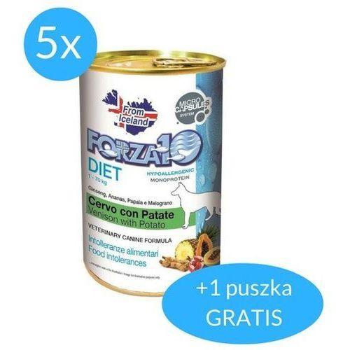Forza10 Diet dla psa 5x400g + 400g GRATIS (2,4kg): smak - jeleń i ziemniaki DOSTAWA 24h GRATIS od 99zł