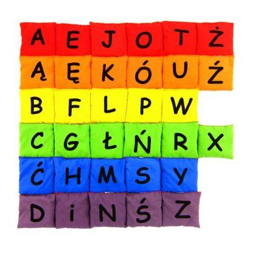 - woreczki gimnastyczne alfabet - zestaw liter w 6 kolorach marki Akson