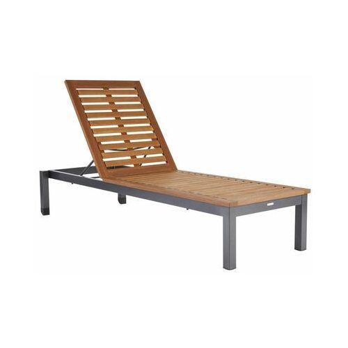 Leżak ogrodowy bez poduszki drewniany NATERIAL