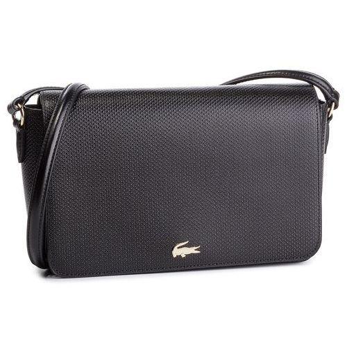 Torebka - flap crossover bag nf2370ce black 000 marki Lacoste