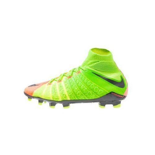Nike Performance HYPERVENOM PHANTOM 3 DF FG Korki Lanki electric green/black/hyper orange/volt, kup u jednego z partnerów