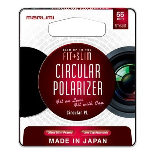 fit + slim filtr fotograficzny circular pl 55mm marki Marumi