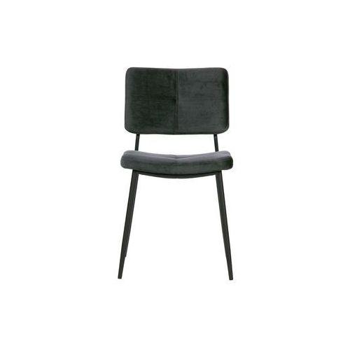 Woood zestaw 2 krzeseł kaat velvet antracytowe 373775-a