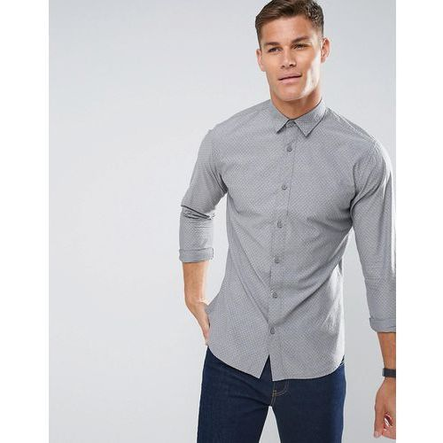 Selected homme regular fit shirt in texture cotton with cutaway collar - green
