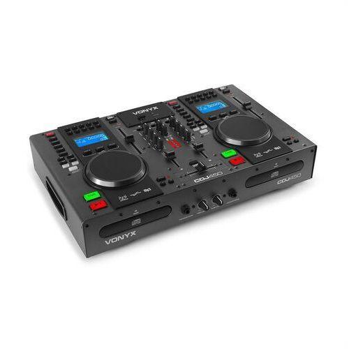 Vonyx CDJ450, DJ Workstation 2, Odtwarzacz, CD, BT, 2 USB 2-kanałowy, mikser