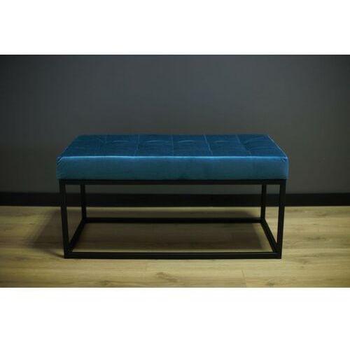Siedzisko, ławka metalowa z pikowaniem SIGI90 niebieska