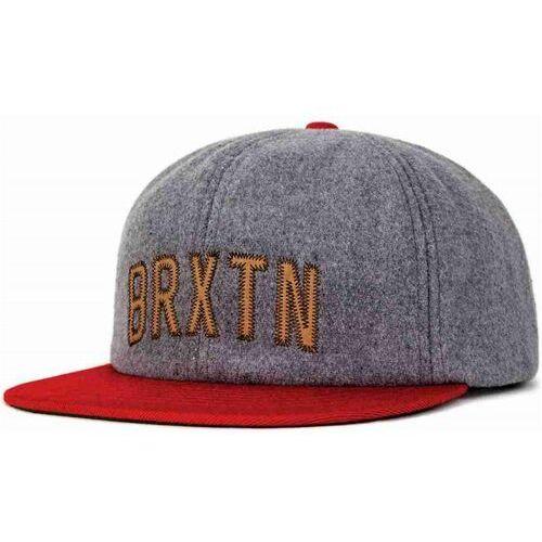 czapka z daszkiem BRIXTON - Hamilton Cap Heather Grey/Red (0338) rozmiar: OS, kolor czerwony