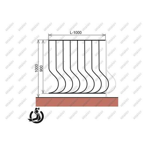 Kované zábradlie - vzor a01/b20/c50/d70 - 100cm 10