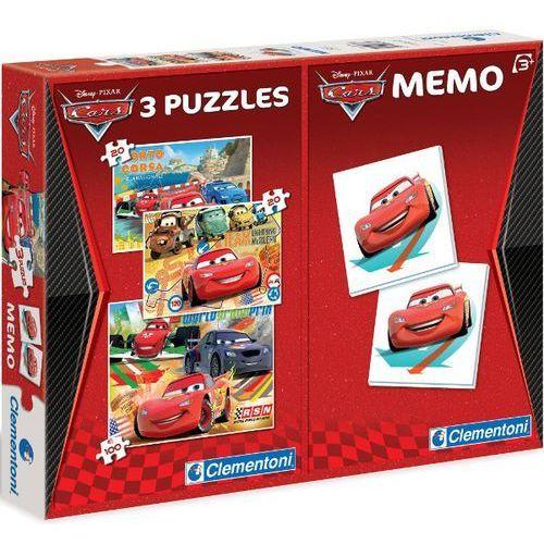 Puzzle CLEMENTONI Zestaw Z Grą Memo Cars (2 x 20 +1 x 100 elementów Memo)