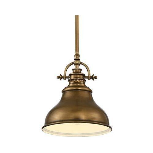 Lampa wisząca Emery 1-punktowa mosiądz Ø 20,3 cm, QZ/EMERY/P/S WS