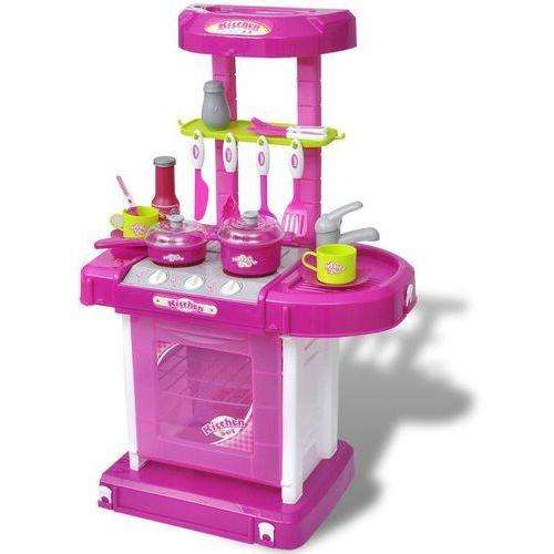 kuchnia dla dzieci ze światłem i dźwiękiem, różowa marki Vidaxl