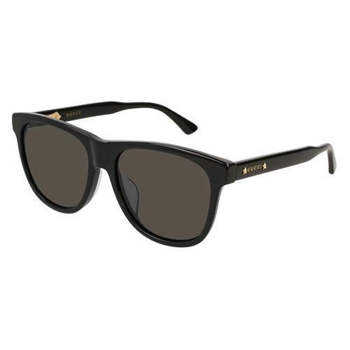 Okulary Słoneczne Gucci GG 0266SA Asain Fit 001, kolor żółty