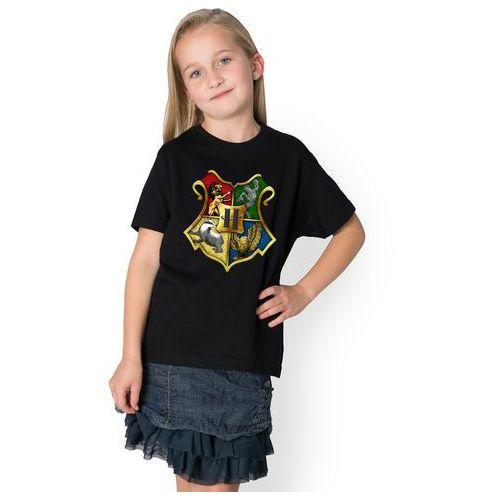 Koszulka dziecięca Godło Szkoły Magii i Czarodziejstwa, kolor biały