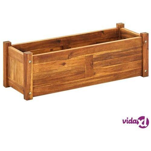 Vidaxl donica ogrodowa, drewno akacjowe, 76x27,6x25 cm (8718475961369)