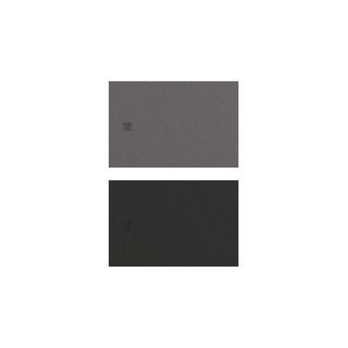 | brodzik mori prostokątny, konglomerat 120x90x3cm czarny b-0406 marki New trendy